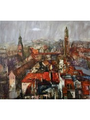 The City With Red Roofs, by Anna Krtshatsyan